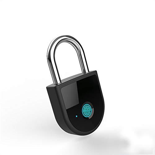COOC Bügelschloss Neue Generation Elektronisches Türschloss Schlüsselloses Vorhängeschloss mit Fingerabdruck-Scanner Vorhängeschloss Schloss