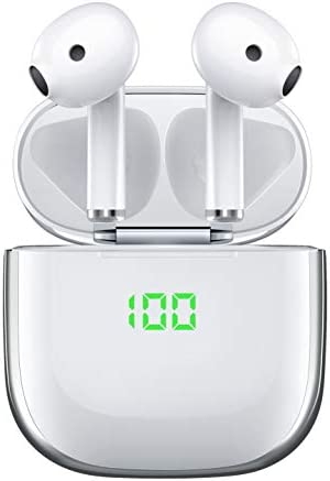 Wireless Earbuds True Bluetooth 5 0 Headphones with USB C Wireless Charging Case VEATOOL Hi product image