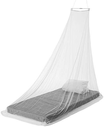 infactory Moskitonetz mobil: Keilförmiges Moskitonetz für Einzelbetten, 156 Mesh, weiß (Mücken-Netz)