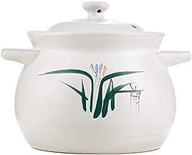 WZWHJ Claypot king White orchid pot High temperature casserole fire ceramic soup pot