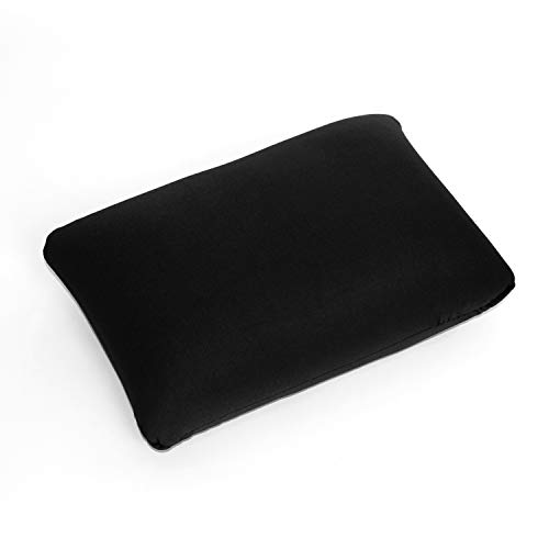 Cushie Pillows 13.5 inches x 10 inches Microbead Squishy/Flexible/Comfortable Rectangle Pillow - Black