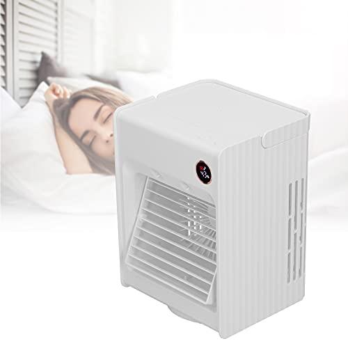 Ventilador USB, Ventilador de enfriamiento pequeño y portátil para Biblioteca para Uso en Estudio(White, Pisa Leaning Tower Type)