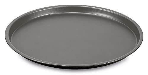 Guardini Happy Hour - Bandeja para pizza de 28 cm, acero con revestimiento antiadherente, color negro y gris
