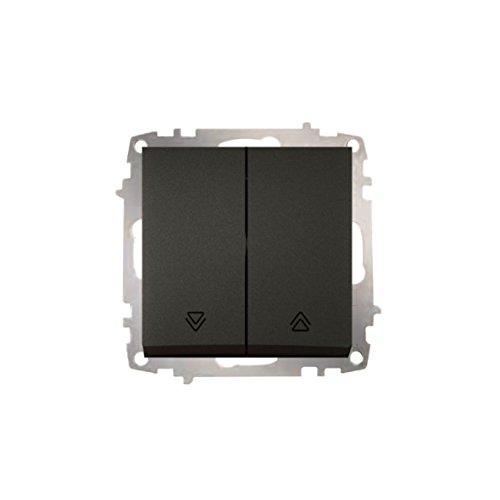 EL-BI Schalterserie ZENA anthrazit UP Schalterprogramm Schalter Serie Programm Steckdose schwarz (Taster Jalousie)