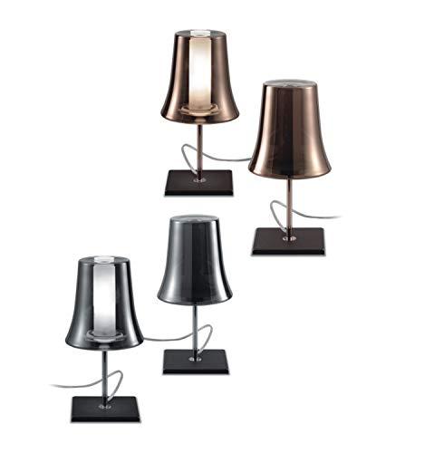 Leucos Cloche T 0706367013309 - Lámpara de mesa (cristal y metal), color cromado y transparente