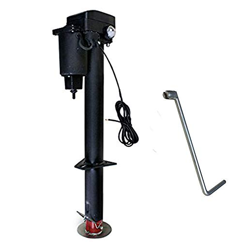 Smartxchoices Adjustable Height 12V 3500 lb Capacity Electric Power Tongue Jack Dual LED Light RV Boat Jet Ski A-Frame Trailer Camper (3500B)