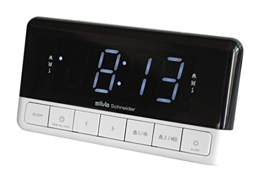 Silva Schneider UR-D 501 PLL Uhrenradio Wecker, Schwarz/Weiß
