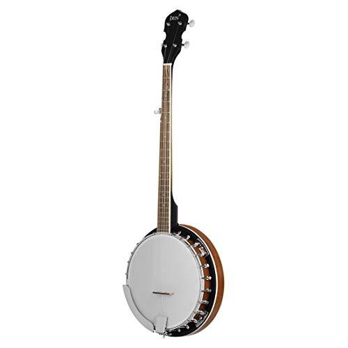 LYN 5-Saitiges Banjo, Konzertukulele, Sapele/Ahorn, Nebliger Klarer Klang Und Technisches Griffbrett Aus Holz, 97 cm, Mit Stimmgerät
