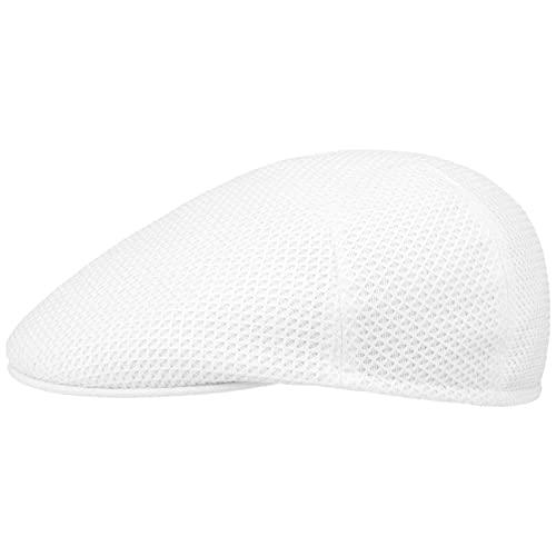 Hutshopping Quadretti Flatcap Schirmmütze Schiebermütze Baumwollcap (62 cm - weiß)