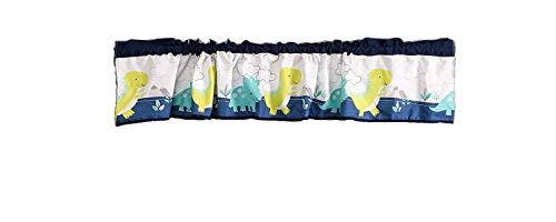 1 PC Dinosaur Nursery Room Decorative Window Valance Baby Room Decorative Curtain Cute Cartoon Dinosaur Window Valance Baby Boy Gift Idea (Blue Window Valance)