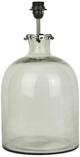 Better & Best Lámpara de Mesa de Cristal con Forma de Botella Baja, Base Redonda, Color Transparente, 25x25x50 cm