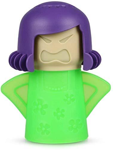RUONIA Magnetronreiniger, Angry Mama Magnetron Oven Stoomreiniger Gemakkelijk reinigt de Ruwe in Minuten, Stoom reinigt en desinfecteert met Azijn en Water voor Home Office Keuken,Groen