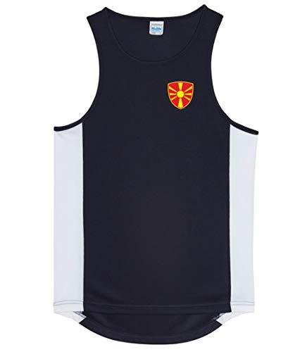 Nation Mazedonien Trikot Tank Top Athletic Sport Gym ATH BR-SC (XL)