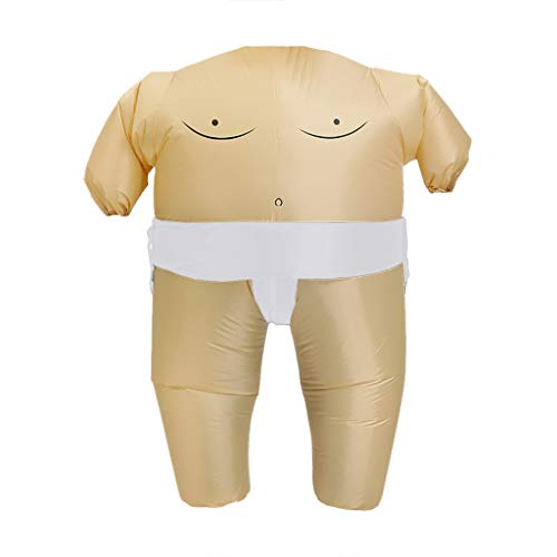 Fineday Inflatable Wrestling Sumo Cosplay Costume Fat Suit Carnival Party Fancy Dress, Toys and Hobbies (White)