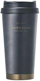 海外限定 スタバ エルマブラックヘリテージタンブラー Starbucks SS Elma black heritage tumbler 473ml [並行輸入品] (ブラック)
