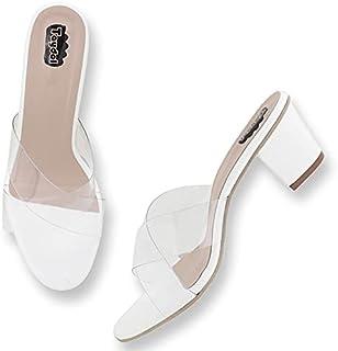 Taydol Women's Fancy Flexible Transparent Block Heel sandals pretty look (5400)