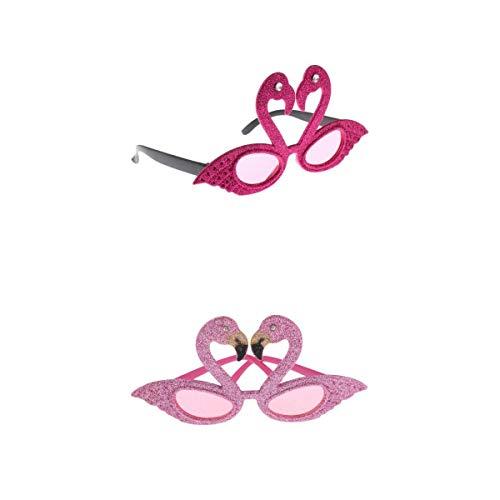 Nobranded 2 / Paquete Novedad Mujeres Niñas Brillo Rosa Flamingo Gafas de Sol Gafas