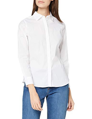 Mexx Womens Long Sleeve Shirt, White, 42