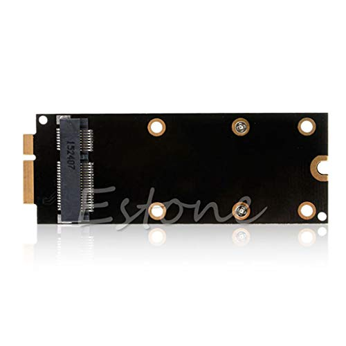 FlowerPEI - Adaptador de tarjeta convertidora MSATA SSD a SATA, 7+17 pines, para MacBook Pro IMAC A1398 A1425 MC976 de 2012