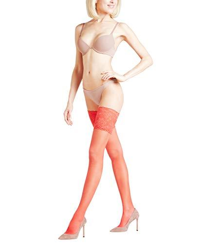 FALKE Damen Stay Ups Seidenglatt 15 Denier - Transparente, Leicht Glänzend, 1 Paar, Rot (Red 8149), Größe: M