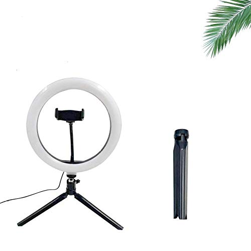 shenlanyu Ring Lamp For Phone Ring Light With Tripod Stand Photo Led Selfie Bluetooth Remote For Youtube Video Live Photography Lighting-26cmLight Without Remote