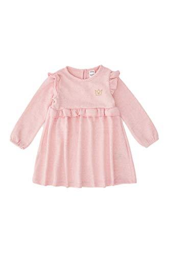 DeFacto Vestido regular de Fıt y falda para bebé, ropa para niña rosa 9-12 Meses