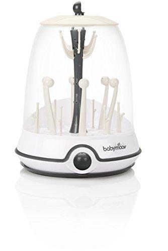 Babymoov Turbo Dampfsterilisator, für bis zu 6 Flaschen und Zubehör, 2-in-1 Sterilisator und Trockenständer für Babyflaschen