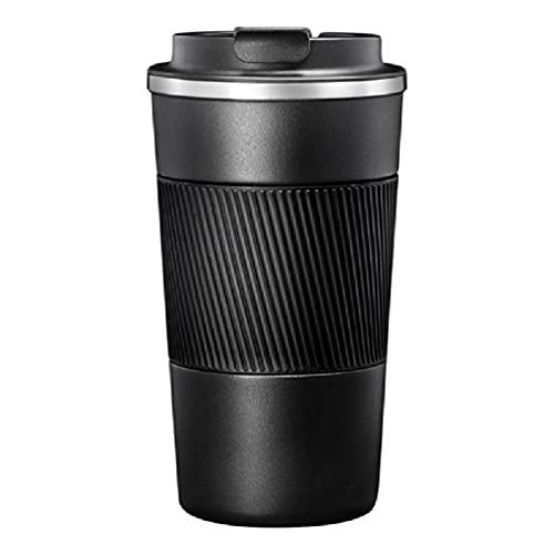 Taza de café de acero inoxidable Taza de agua de coche de aislamiento Botella de agua térmica aislada Taza térmica Espesar Frasco de vacío inteligente portátil Hogar Escuela Oficina Viaje Taza de