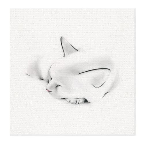 Abtropfmatte für Küchentheke, Nap Cat QSC saugfähige Mikrofaser Geschirrabtropfmatte große Spülbeckenmatte hitzebeständige Schutzunterlage Küchendekoration 71,1 x 71,1 cm