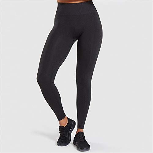XUFAN Mujeres sin fisuras leggings fitness femme alta cintura ejercicio leggings jeggings mujeres leggings para mujeres leggins mujer (Color : Black, Size : M)
