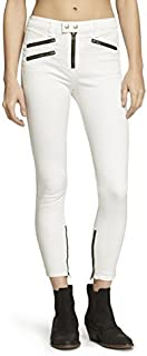 Rag & Bone White High Rise Biker Jeans (30)