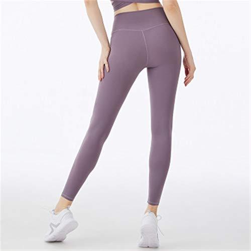 FFLSDR Mujeres Pantalones De Yoga Pantalones para Correr Hip-Lift High-Cintura Fitness Pantalones Deportivos Correr Pantalones De Yoga Ajustados (Color : Gray Pink, Size : Small)