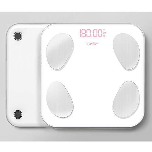 XIAMIMI Smart-Körperfett-Analysewaage Bluetooth-Balancen-Test 13 Körper Datum BMI Gesundheit Waage LED-Anzeige