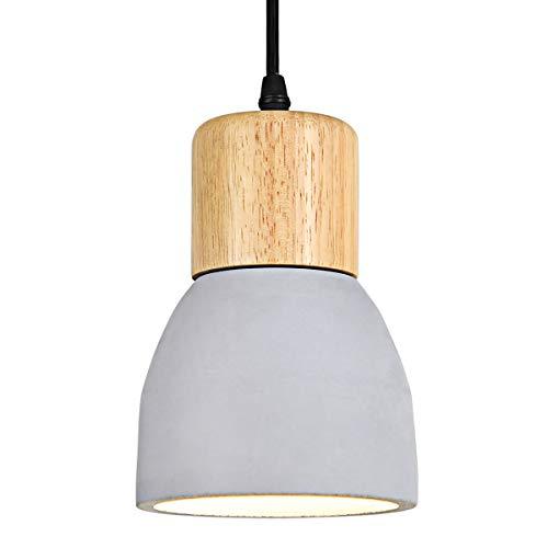 Lampara colgante vintage de hormigon E27 lampara industrial colgante Lampara de mesa de comedor interior de 1 llama para sala de estar comedor restaurante bar hall cafe, ⌀12cm, bombillas no incluidas