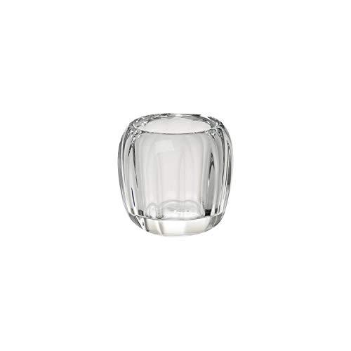 Villeroy & Boch - Teelicht Cosy Transparent, dekoratives Windlicht für Innen und Außen, Kristall Glas, klar/transparent, Handreinigung