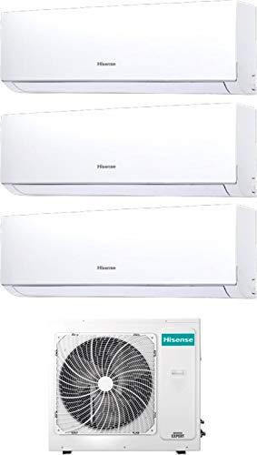 Hisense New Comfort - Climatizzatore Trial Split 9000+9000+9000 Btu, Inverter, Pompa di Calore, Gas R32