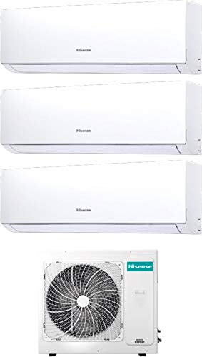 Hisense New Comfort - Climatizzatore Trial Split 9000+9000+12000 Btu, Inverter, Pompa di Calore, Gas R32