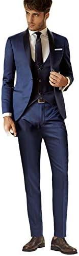 UMISS Uomo Pantaloni e Giacca da Uomo in Velluto Monopetto a vestibilit/à Slim