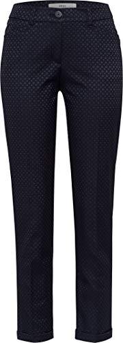 BRAX Maron Jacquard Gemusterte Chino Pantaloni, Blu (Navy 22), W31/L30 (Taglia Produttore: 40K) Donna