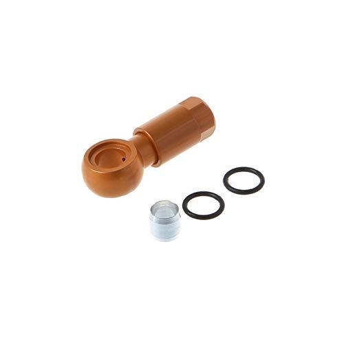 Freno de disco hidráulico de bicicleta No SLX XT XTR Juego de tubos de cinco cables Conector de cabeza de oliva BH90 para accesorios de ciclismo Shimano Bicicleta de piezas de frenos ( Color : Gold )