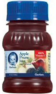 Gerber 100 Percent Apple, Prune Juice, 4 Fluid Ounce -- 24 per case.