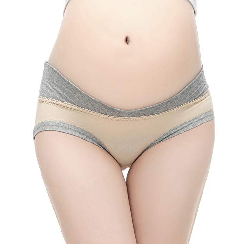 eigenn マタニティ ショーツ 妊婦パンツ レディース 下着 ローライズ 5枚セット 産前 産後 綿 (A, M)