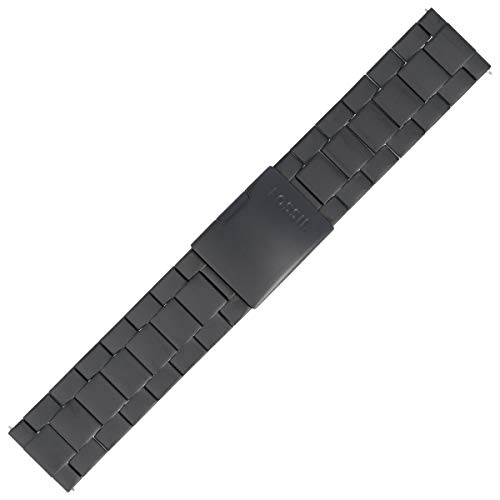 Fossil Uhrenarmband 24mm Edelstahl Schwarz - JR-1401 | LB-JR1401