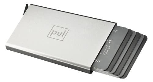 pul pularys Kartenetui aus hochwertigem Aluminium, RFID-Blocker, Platz für 6 Karten
