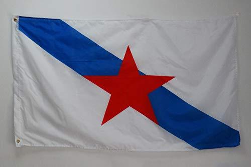 AZ FLAG Bandera de Galicia ESTRELEIRA 150x90cm - Bandera INDEPENDENTISTA GALLEGA - NACIONALISMO Gallego 90 x 150 cm