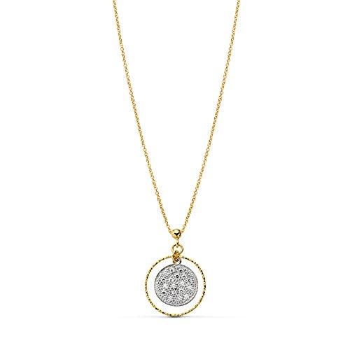 Gargantilla Mujer oro bicolor 18 kilates Moneda