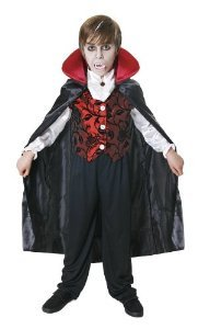 Child Halloween Vampire Deluxe Costume Medium Age 7-9