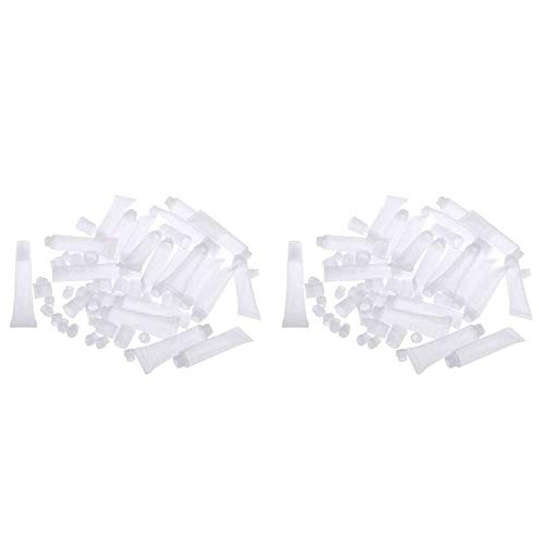 Yuyanshop 40 frascos de plástico con brillo labial para viajes, mini sérum para ojo