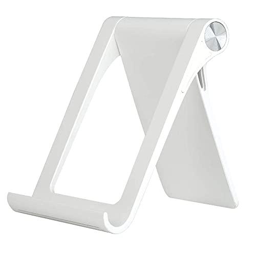 Cell Phone Stand Phone Holder Foldable Tablet Stand Adjustable Tablet Rack Cradle Dock for Smartphone Tablet White