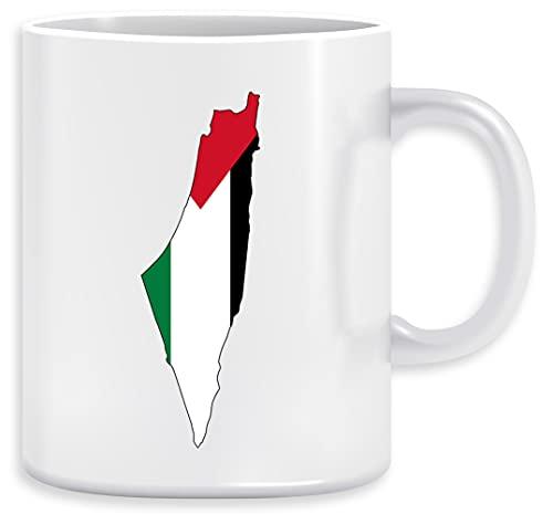 Esquema de la región de la bandera de Palestina Taza Ceramic Mug Cup